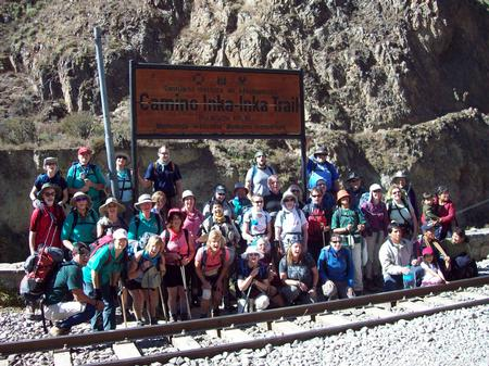 At the start of the Inca Trail proper.