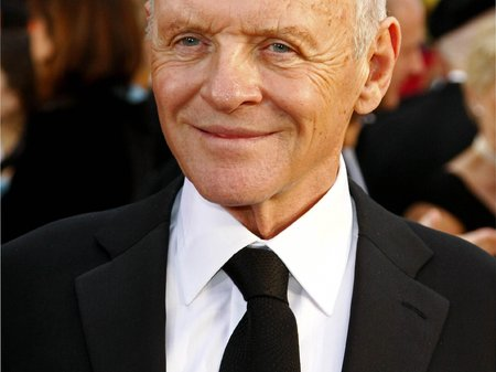 Anthony Hopkins on the red carpet