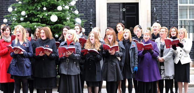 Military Wives outside Downing Street