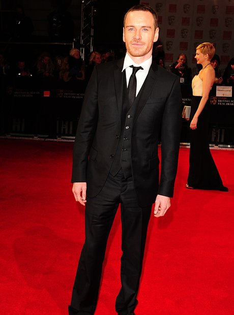Michael Fassbender arrives at the  BAFTAs 2012 Awa