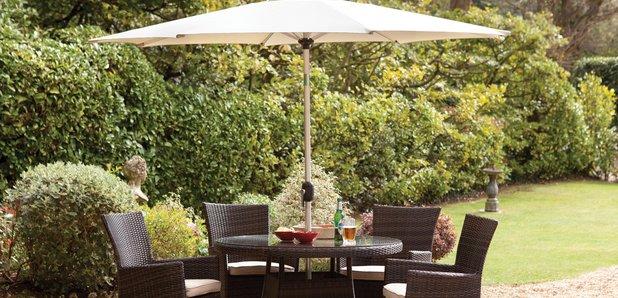 Furniture Village Garden Furniture win a luxury garden table & chairs - classic fm