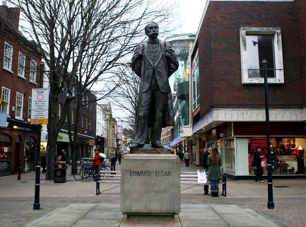 Elgar statue
