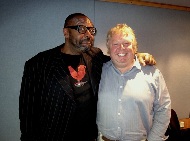 Comedian Lenny Henry and Nick Ferrari