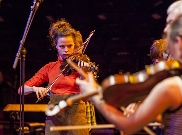 Penzance Youth String Orchestra get ready for thei