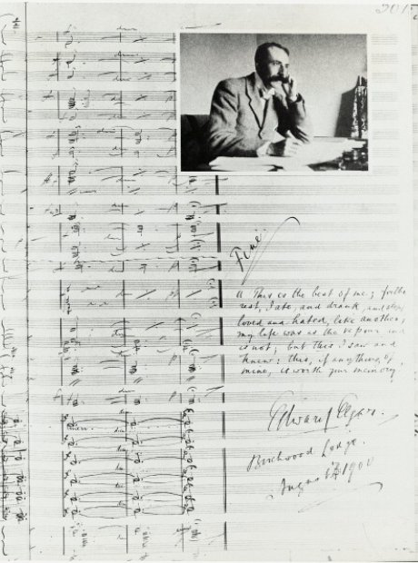 elgar signed score