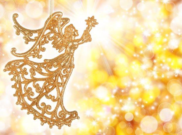 gold angel christmas