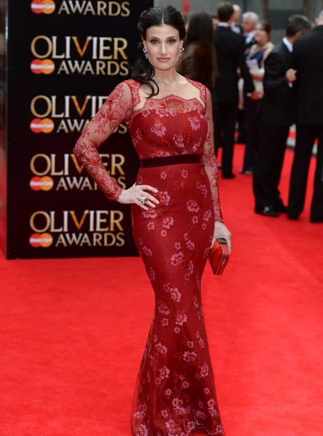 Idina Menzel arrives at the Olivier Awards 2013