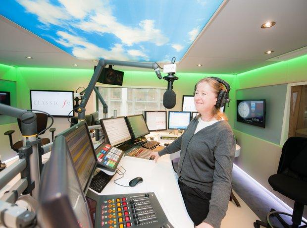 Anne-Marie Minhall Classic FM studio