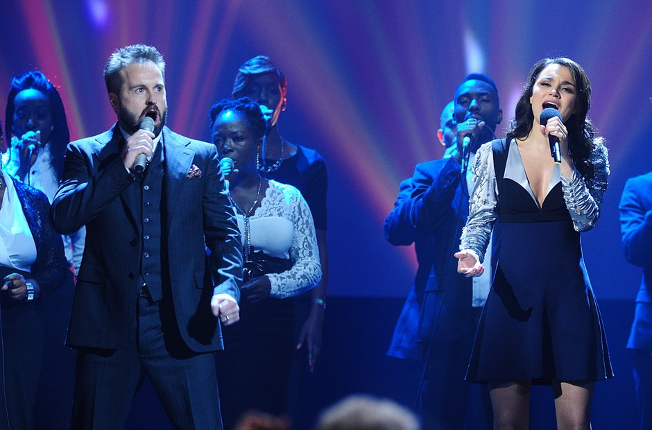 Alfie Boe and Samantha Barks Classic Brit Awards 2