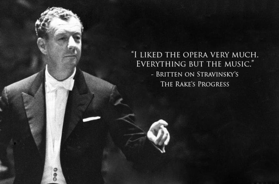Composer insults Britten