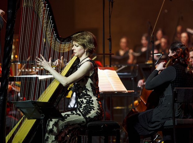 Catrin Finch  at Classic FM Live 2014 in Cardiff
