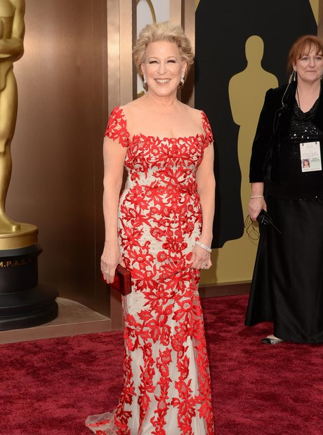 Bette Midler at the Oscars 2014 red carpet