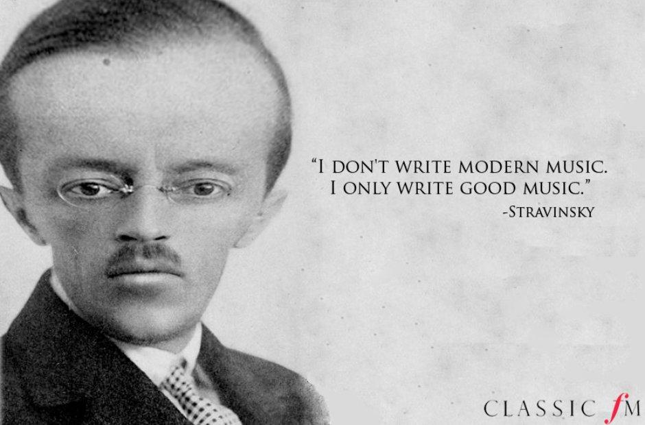 egotistical composer quotes stravinsky