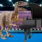 Velociraptor plays the piano