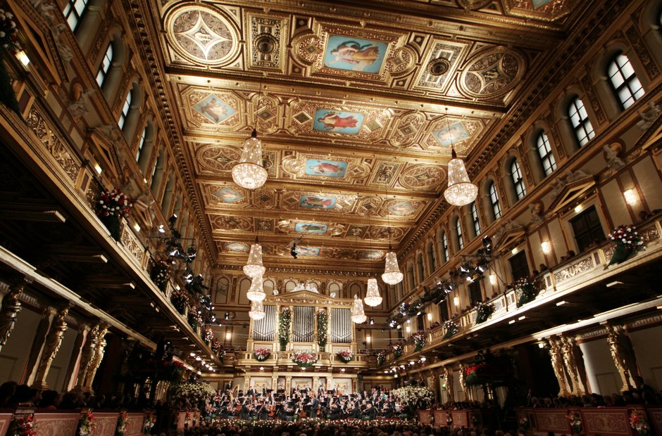 Vienna Musikverein Great Hall New Year's Concert Philharmonic Orchestra Mariss Jansons