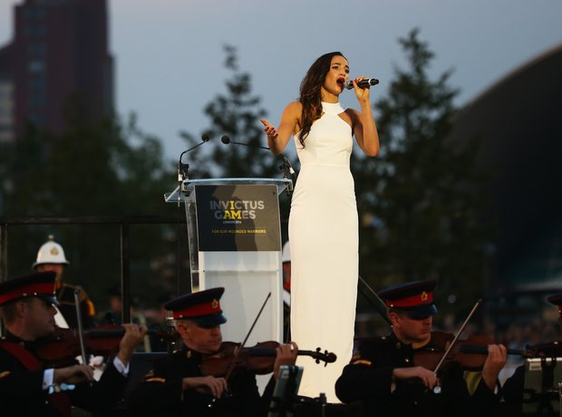 Laura Wright at the Invictus Games opening ceremon
