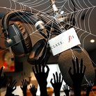 Classic FM studio with spider webs