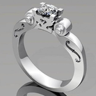 Violin diamond ring