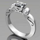 Violin diamond ring