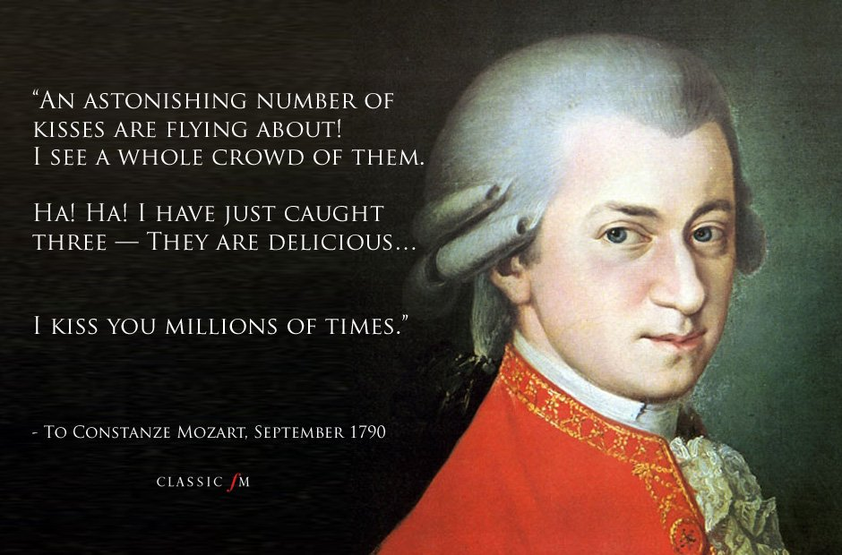 Mozarts Letters 10 Wonderful Emotional And Bizarre Quotes