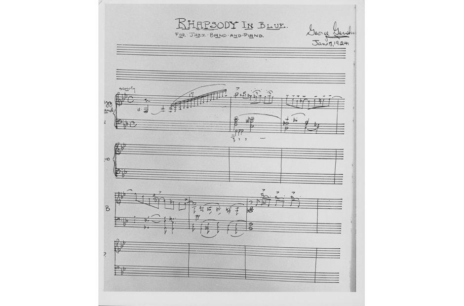 beautiful manuscripts Rhapsody in Blue