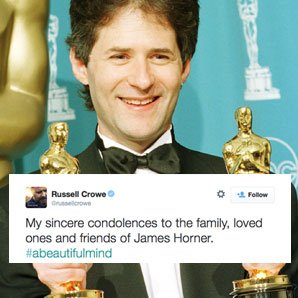 James Horner tributes Crowe