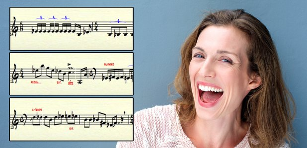 laughter in musical notation