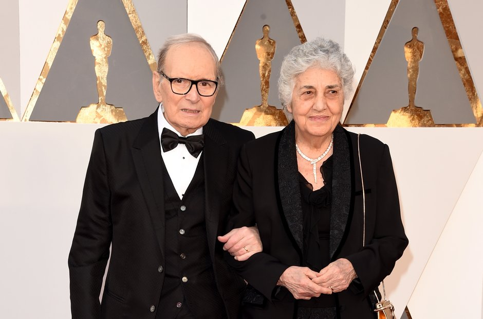 composer Ennio Morricone and his wife Maria