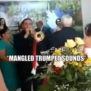 trumpet wedding fail