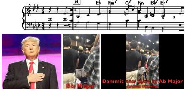 Donald Trump national anthem