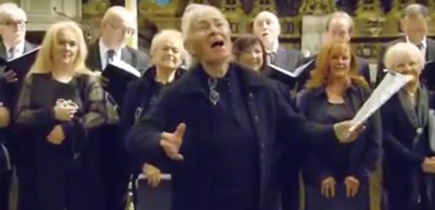 old lady soprano sings verdi