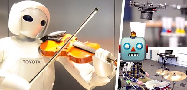 Robots who can play music
