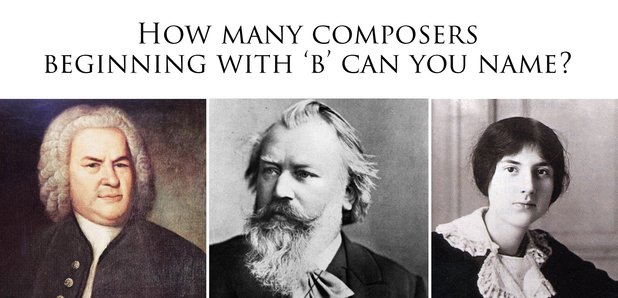 Composers beginning with B quiz