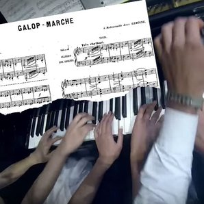 Galop Marche - Lavignac. Eight hands on one piano