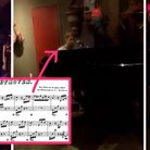 justin bieber playing beethoven
